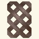 HDPE lattice - Hole 27 mm - Brown