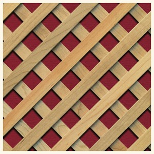 R/222 Square 20 mm - wood lattice superimposed
