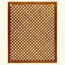 Framed lattice CE-114/92 - Teak
