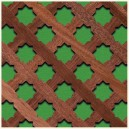 R/222-MH Star 20 mm. Inclined - Wood lattice