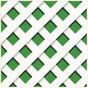 PVC Lattice R/222 Inclined Mesh - White