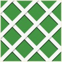 PVC Lattice R/222 HD Inclined Mesh - White