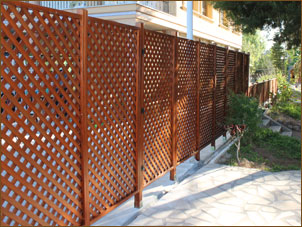 Framed lattices for outdoors